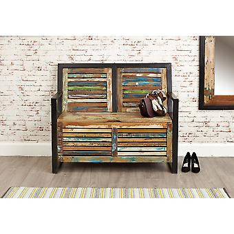 Urban Chic Storage Monks Bench Brown - Baumhaus