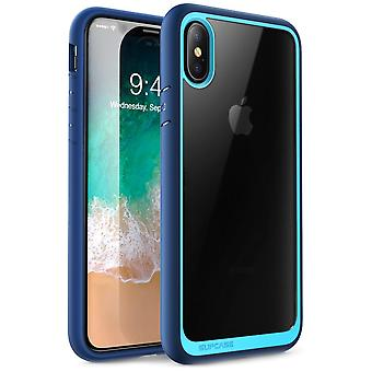 iPhone Xs Case, [Unicorn Beetle Style] Premium Hybrid Protective Clear Case 2018 Release (Blue)