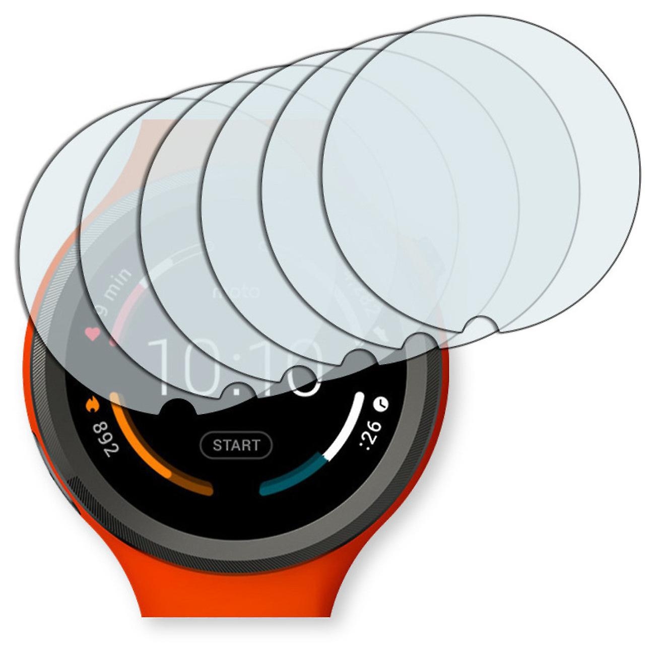Motorola Moto 360 sports Smartwatch display protector - Golebo Semimatt protector (deliberately smaller than the display, as this is arched)