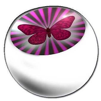 Piercing udskiftning bolden hvid, krop smykker, sommerfugl | 1,6 x 5 og 6 mm