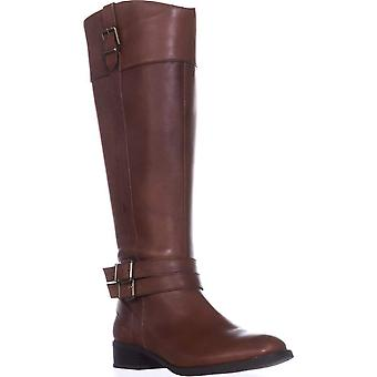 INC International Concepts Womens I35 FrankII Buckle Riding Boots Almond Toe ...