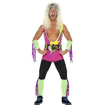 Smiffy Retro-Ringer Kostüm mit Body