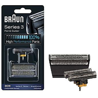 Braun 30B Series 4000 / 7000 Electric Shaver Replacement Foil Cassette Cartridge - Black