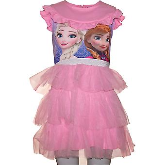 Girls RH1105 Disney Frozen Fancy Short Sleeve Dress Size 4-8 Years