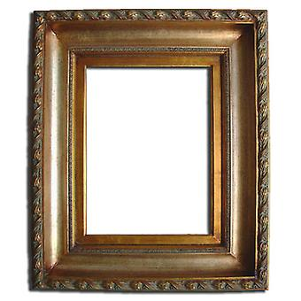 40 x 50 cm or 16 x 20 inch, wood frame in gold