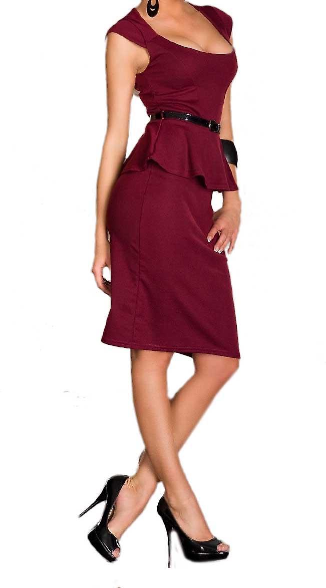 Waooh - Mode - Dress peplum potlood