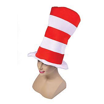 Rød/hvit stripete flosshatt. Voksen
