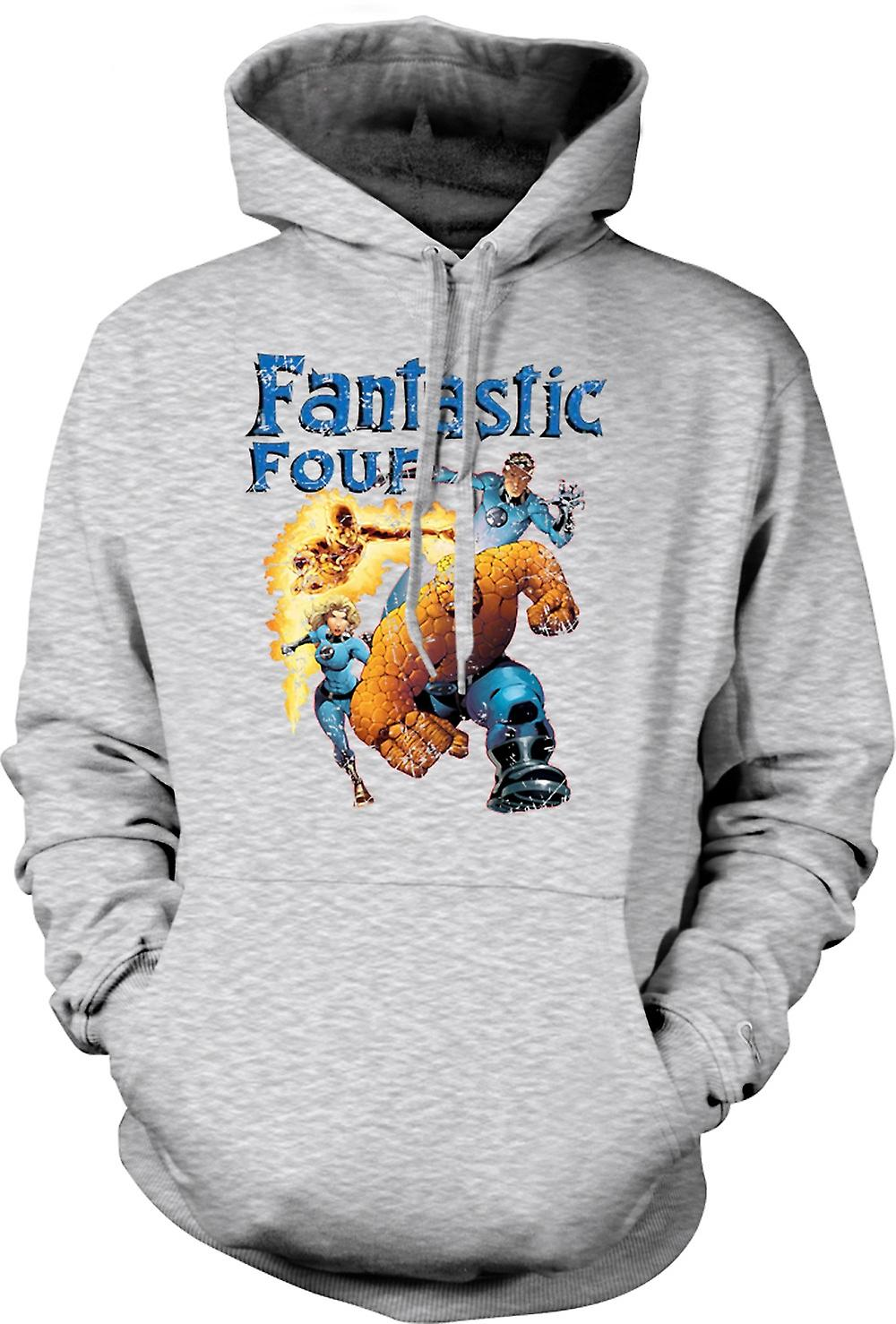 Mens Hoodie - Fantastic Four - Comic Super Hero