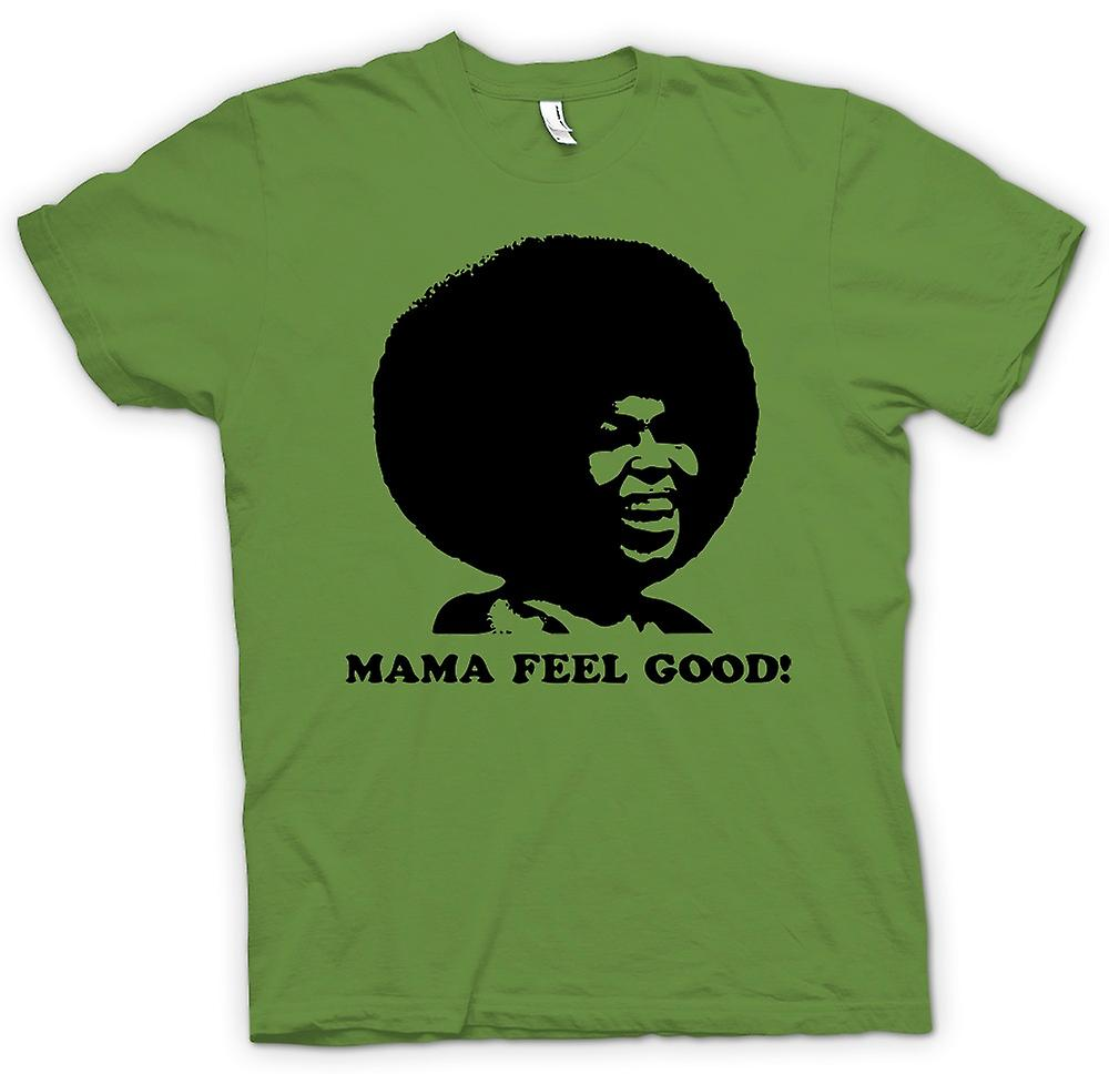 Mens T-shirt - Mama Feel Good - 70s - Soul Afro