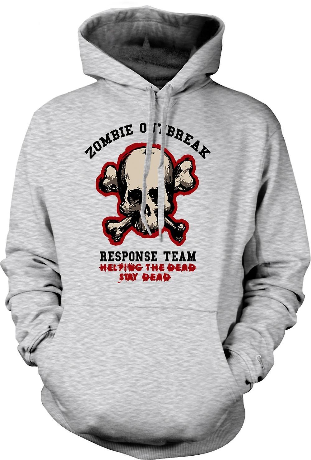 Mens Hoodie - reactie van de uitbraak van de Zombie - Funny