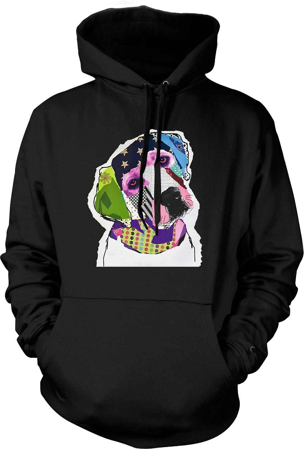 Mens-Hoodie - Labrador - Cool - Pop Art - Freisteller