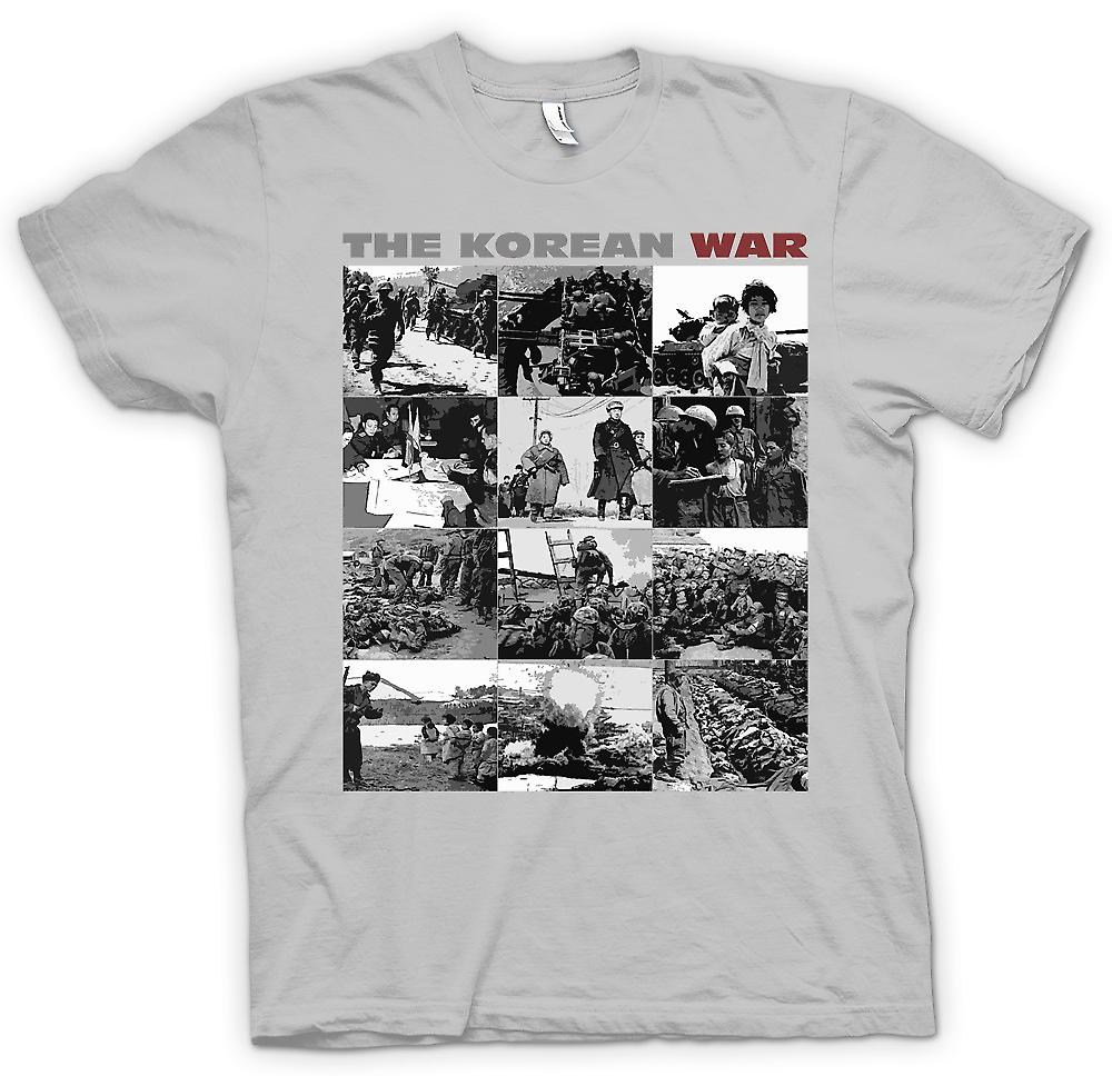 Heren T-shirt-The Korean War - Amerikaanse v-Korea Black en White afbeeldingen
