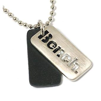 Bench Gents Cut Out Double Dog Tag Pendant on 18 Inch Chain