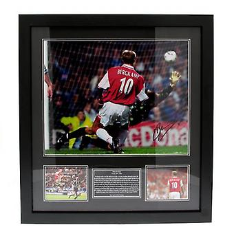 Arsenal Bergkamp Signed Framed Print