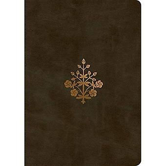 ESV Single Column Journaling Bible, Large Print (Trutone, Olive, Branch Design)