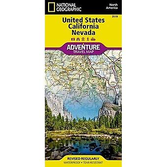 United States, California And Nevada Adventure Map
