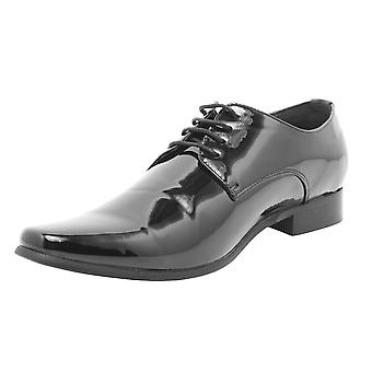 Avail London Mens Black Contemporary Dress Shoes Laced