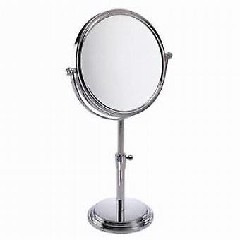 Famego 5x Magnification Chrome Adjustable Height Pedestal Mirror