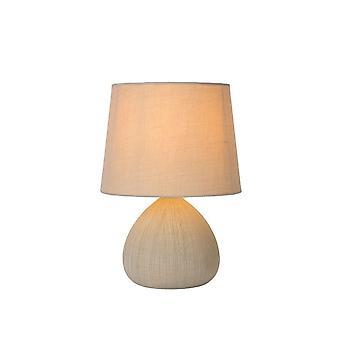 Яйца lucide Ramzi коттедж круглый керамика кремовый настольная лампа