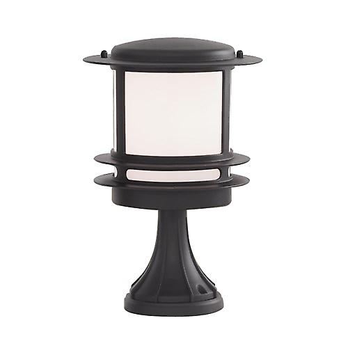 Searchlight 1264 Modern Outdoor Pillar Post With Polycarbonate Diffuser