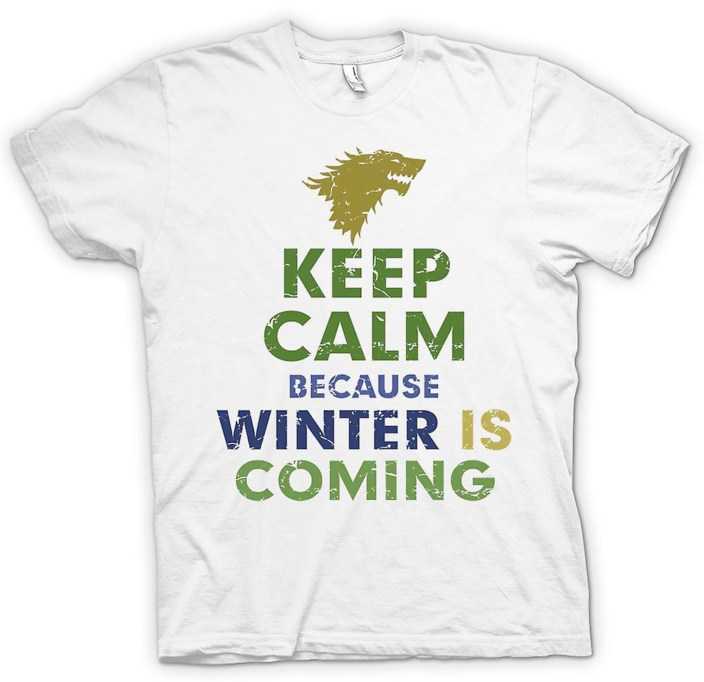 Womens T-shirt - Keep Calm Because Winter Is Coming