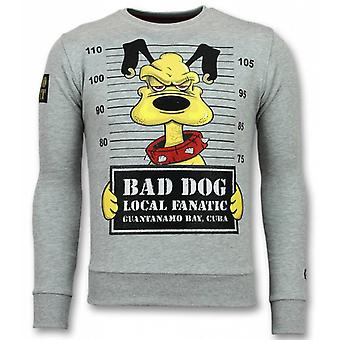 Bad Dog Sweater-Cartoon homme sweat-shirt gris