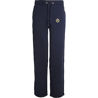Royal Scots - Licensed British Army Embroidered Open Hem Sweatpants / Jogging Bottoms