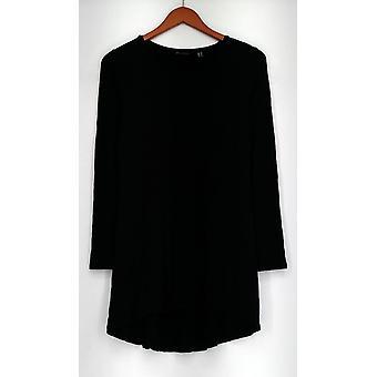 H di Halston Top Essentials maglia a maniche lunghe altalena nero A294342