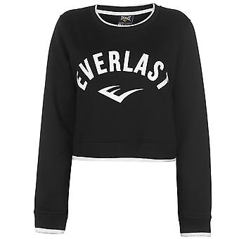 Everlast Womens Crop Sweatshirt Ladies Long Sleeve Crew Neck T-Shirt Tee Top