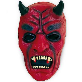 悪魔のマスク赤 & 黒ラテックス マスク ホラー ハロウィン