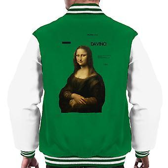 A.P.O.H Leonardo Da Vinci Mona Lisa Masterpieces Quote Men's Varsity Jacket