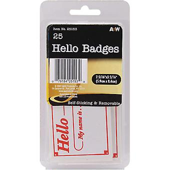 Labels Hello Badges 2.3125