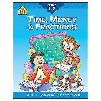 Curriculum Workbooks 32 Pages Time, Money, Fractions Grades 1 2 Szcur 02044