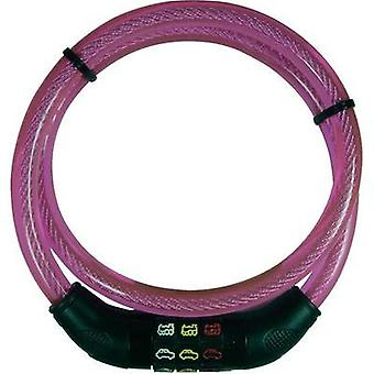 Steel cable lock Security Plus CSL80Pink Pink Symbol combination lock