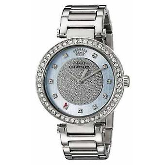 Juicy Couture Womans Silver Strap Round Silver Dial 1901266 Watch