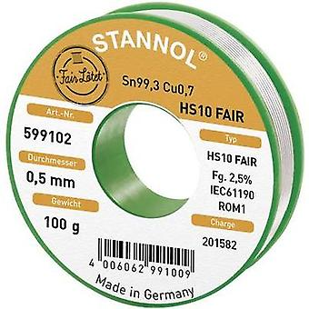 Solder Reel Stannol HS10-Fair Sn99.3Cu0.7 100 g 0.5 mm