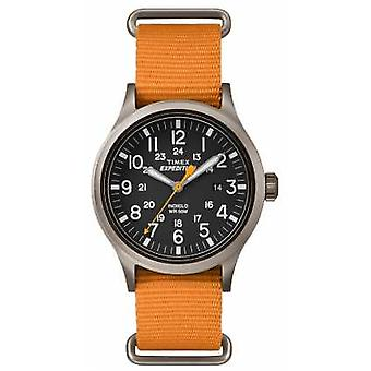 Timex Mens Scout Black Dial Orange Fabric Strap TW4B04600 Watch