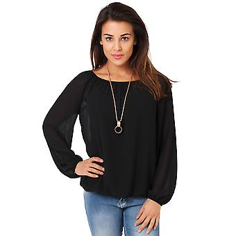 KRISP Off-Shoulder Neck Gypsy Blouse