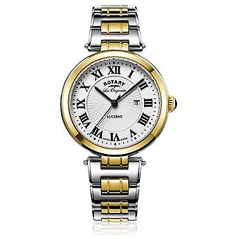 Rotatif Womans Lucerne deux tons argent montre LB90188/01/L or