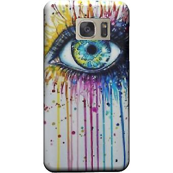 Cover Watercolor eyes to Galaxy S7 Edge