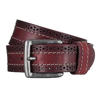 SAKLANI & FRIESE belts men's belts leather belt Bordeaux 5017