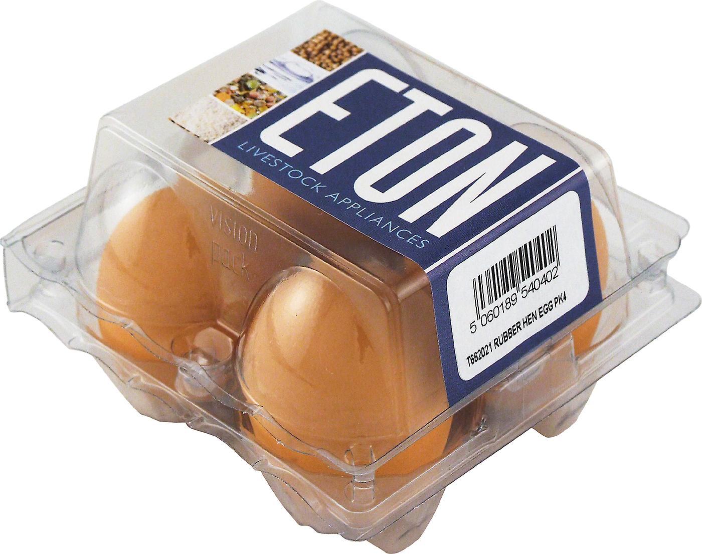 Rubber Nest Egg For Bantam/pheasant 4pack