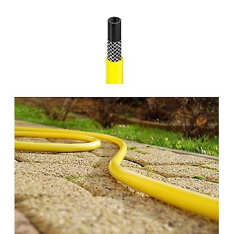 Long Flexible Three Layer Garden Yellow Hose Hosepipe 30m Length 1