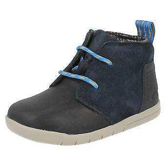 Boys Clarks First Casual Ankle Boots Crazy Peck