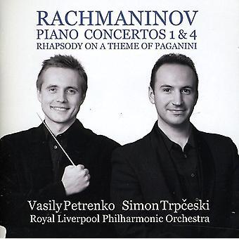 Trpceski/Petrenko - Rachmaninov: Importación USA Piano Concertos nos. 1 & 4 [CD]
