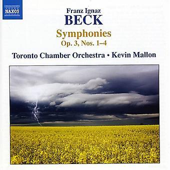 F. beck - Franz Ignaz Beck: Symfonier Op. 3, nr. 1-4 [DVD] USA importere