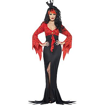Costume evil Queen with bat print dress size L