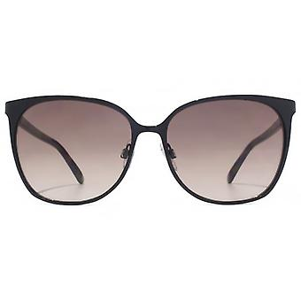 French Connection Fine Metal Square Sunglasses In Black