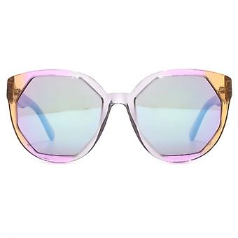 Marc Jacobs Cutting Edge Geometric Sunglasses In Crystal Grey Pink Brown