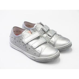 Froddo Girls Froddo Silver Leather Casual Shoes | G3130057-2